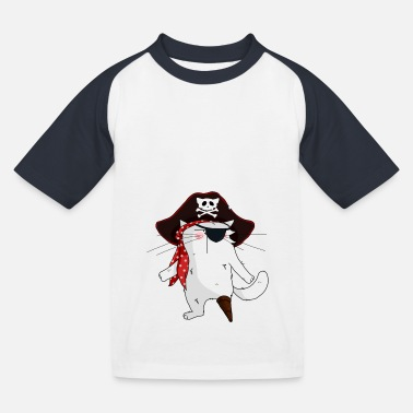 Mrou Chat Pirate - T-shirt baseball Enfant