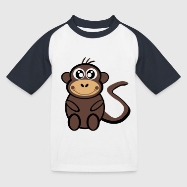 Cartoon monkey - Baseboll-T-shirt barn