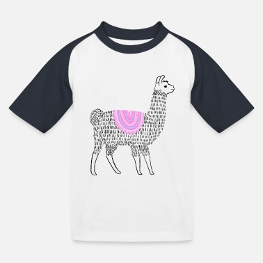 Boho Lama - Kinder Baseball T-Shirt