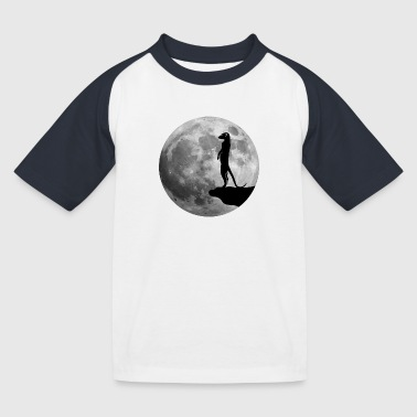 meerkat surikat moon - Kids' Baseball T-Shirt