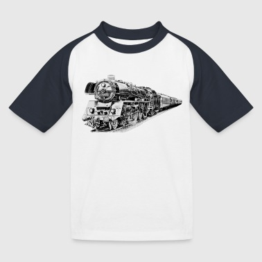 steam locomotive - Kids' Baseball T-Shirt