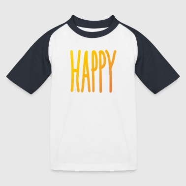 Happy - T-shirt baseball Enfant