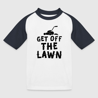 get off the lawn with lawn mower - Kids' Baseball T-Shirt