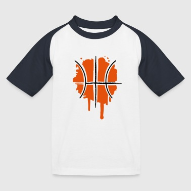 Basketball Graffiti - Kids' Baseball T-Shirt