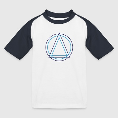 Geometry - Triangle Circle - Kids' Baseball T-Shirt