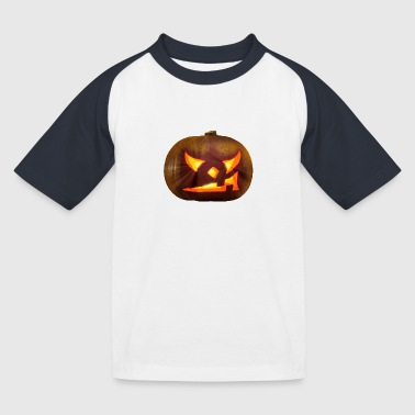 Halloween - Kürbis - Kinder Baseball T-Shirt