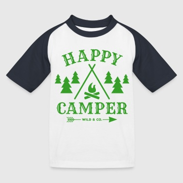 HappyCamper wide - Kids' Baseball T-Shirt