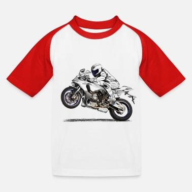 Moto Motorcycle - T-shirt baseball Enfant