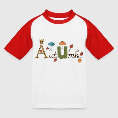 Herbst - Kinder Baseball T-Shirt