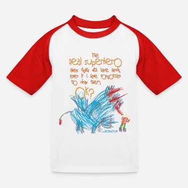 Der wahre Superheld - Kinder Baseball T-Shirt