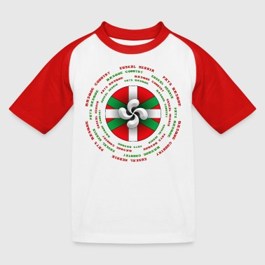 Croix croix basque euskadi - T-shirt baseball Enfant