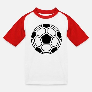 Soccer mosaic (ball / logo / symbol / pictogram) - Kids' Baseball T-Shirt