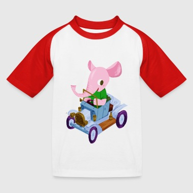 Elephant in a vintage car - Baseball-T-skjorte for barn