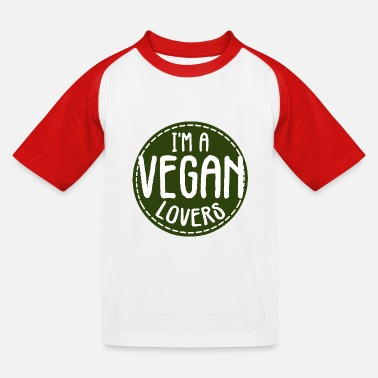 Exploitation I'm a vegan lover - Kids' Baseball T-Shirt