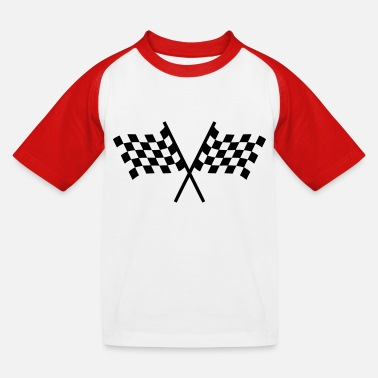 Racing Flag Racing flags - Kids' Baseball T-Shirt