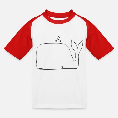 WHALE - Kids' Baseball T-Shirt