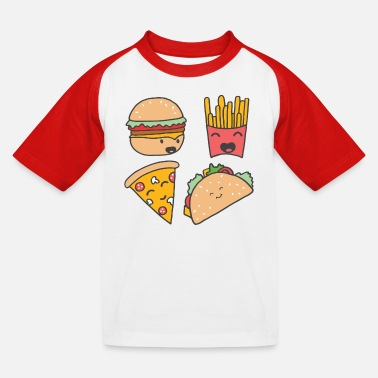 Burger fast food friends - Kids' Baseball T-Shirt