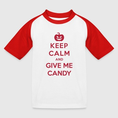 Keep Calm Give Me Candy - Funny Halloween - Kinderen baseball T-shirt