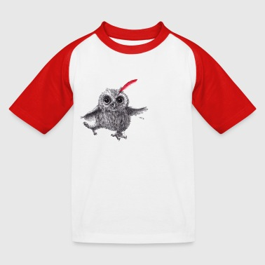 Chief Red - Happy Owl - Kinderen baseball T-shirt