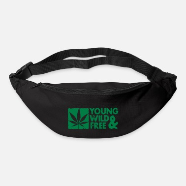 Young young wild and free weed leaf boxed - Bum Bag