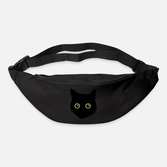 Eye Bags & Backpacks - black cat, cat eyes - Bum Bag black