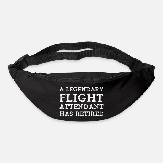 Flight Attendant Bags & Backpacks - Retired Flight Attendant Retirement Stewardess - Bum Bag black