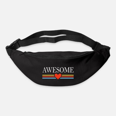 Awesome Awesome awesome heart - Bum Bag