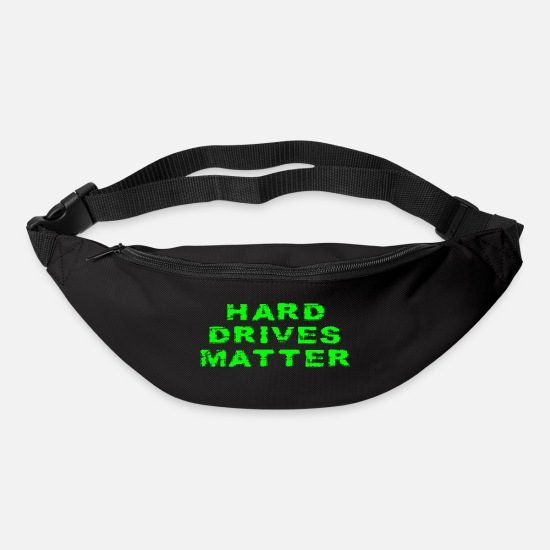 Geek Bags & Backpacks - Hard Drives Matter Funny Computer Hardware Geek - Bum Bag black