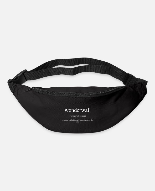 Dictionary Bags & Backpacks - Wonderwall (protective wall) Black Edition - Bum Bag black