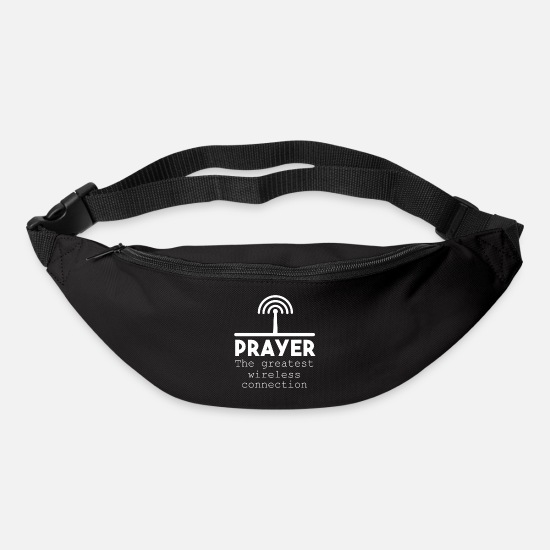 Bible Bags & Backpacks - Prayer The Greatest Wireless Connection - Bum Bag black