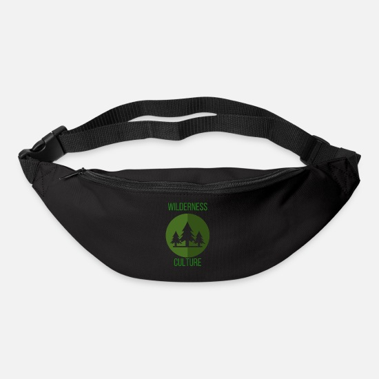 Camping Bags & Backpacks - Wilderness Culture Wilderness Culture Trees Gift - Bum Bag black
