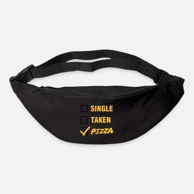Valentines Day Single / Taken / Pizza - Funny & Cool Statment - Bum bag