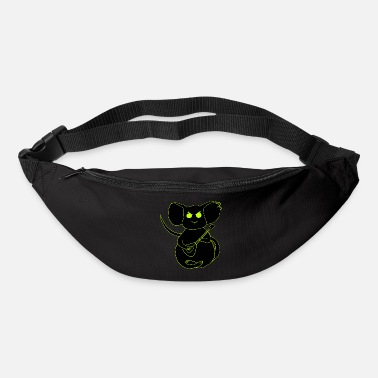 angry rock mouse neon - Bum Bag