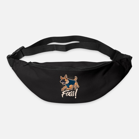 Pet Bags & Backpacks - German Shepherd Guard Dog Barrel Gift Shirt - Bum Bag black