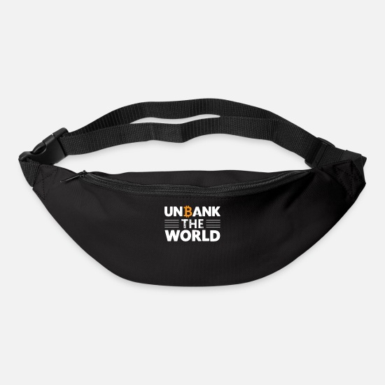 Bitcoin Bags & Backpacks - Unbank the world - Bum Bag black
