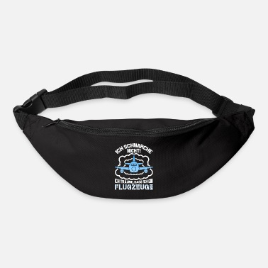 Airplane Snoring not dreams plane pilot flying - Bum Bag