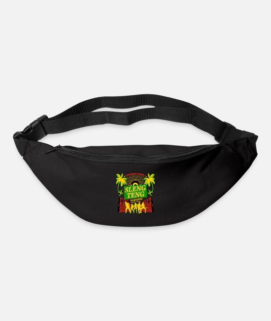 Rasta Bags & Backpacks - Sleng Teng Jamaican Classic Dancehall Riddim Shirt - Bum Bag black