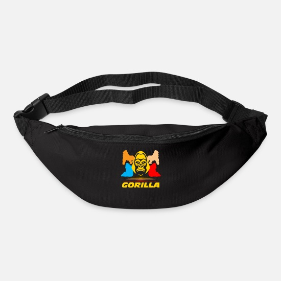 Gift Idea Bags & Backpacks - Gorilla animal - Bum Bag black