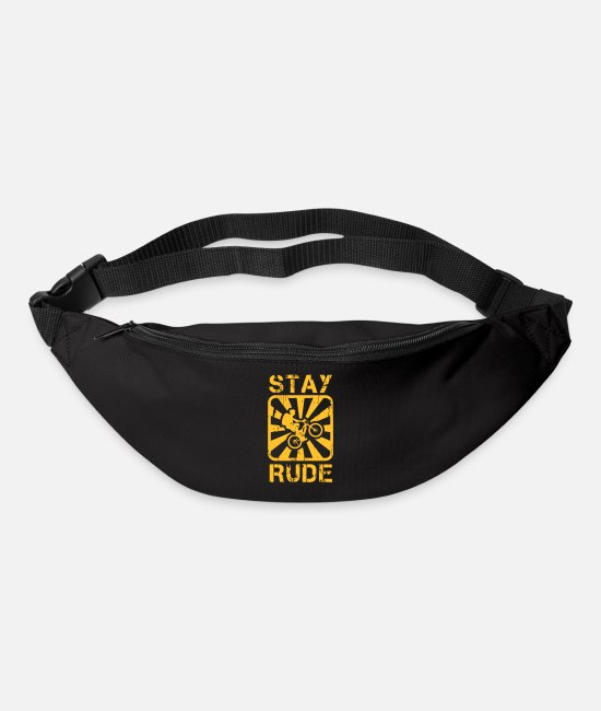 Mountain Biking Bags & Backpacks - Stay rude - Bum Bag black