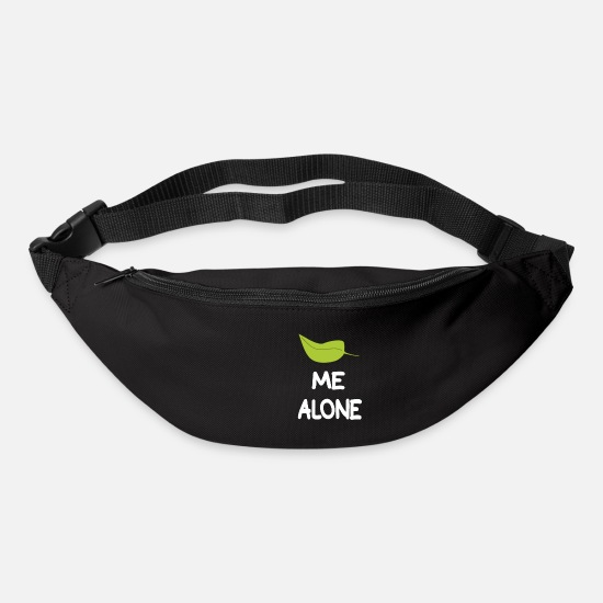 Alone Bags & Backpacks - Leave me alone slogan humour quote - Bum Bag black