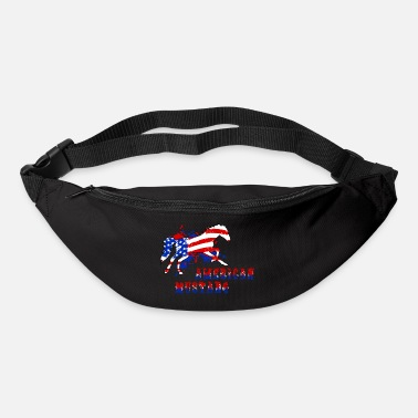 Gallop American horse galloping with text - Bum Bag