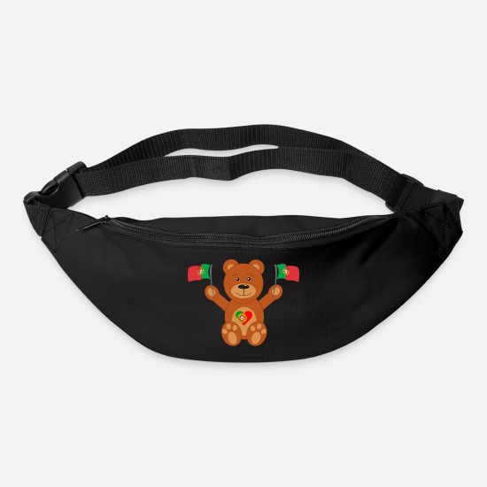 World Championship Bags & Backpacks - Teddy bear Portugal flag - Bum Bag black