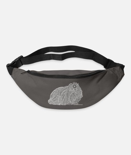 Drawing Bags & Backpacks - Long haired guinea pig - Bum Bag graphite grey