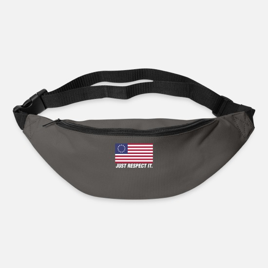 Patriot Bags & Backpacks - Just Respect It American Betsy Ross Flag Design - Bum Bag graphite grey
