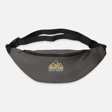 Mountains are therapy hiking climbing gift - Bum Bag