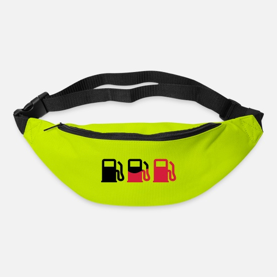 Alcohol Bags & Backpacks - Zapfsäule | Gas station - Bum Bag lime green