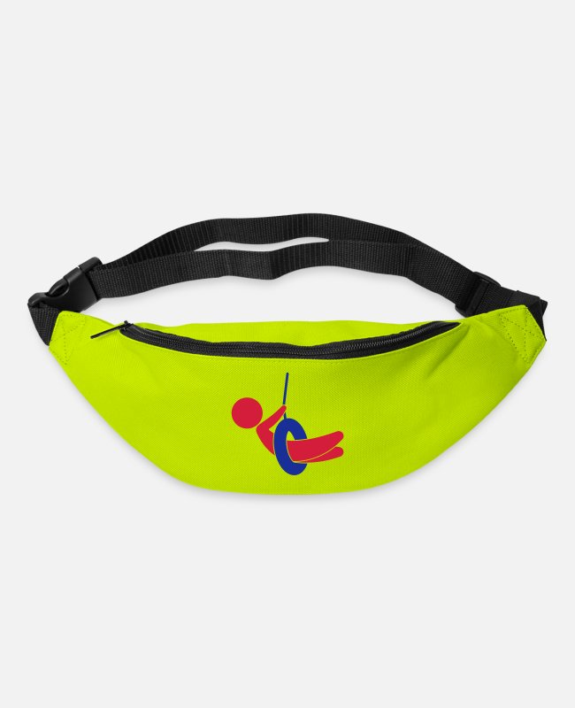 Car Tires Bags & Backpacks - Child sitting on a swing - Bum Bag lime green