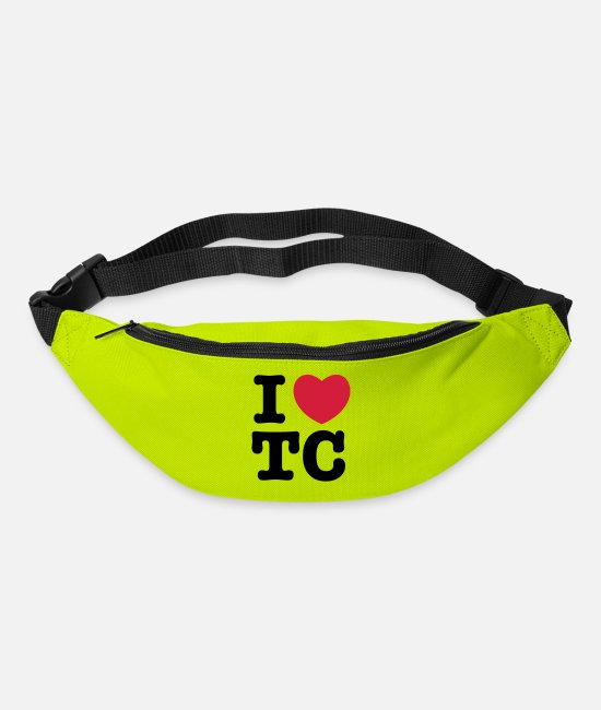 Heart Bags & Backpacks - i heart tc - Bum Bag lime green