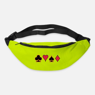 Pokerface Poker Cards Karten Pik Heart Herz Karo - Bum Bag