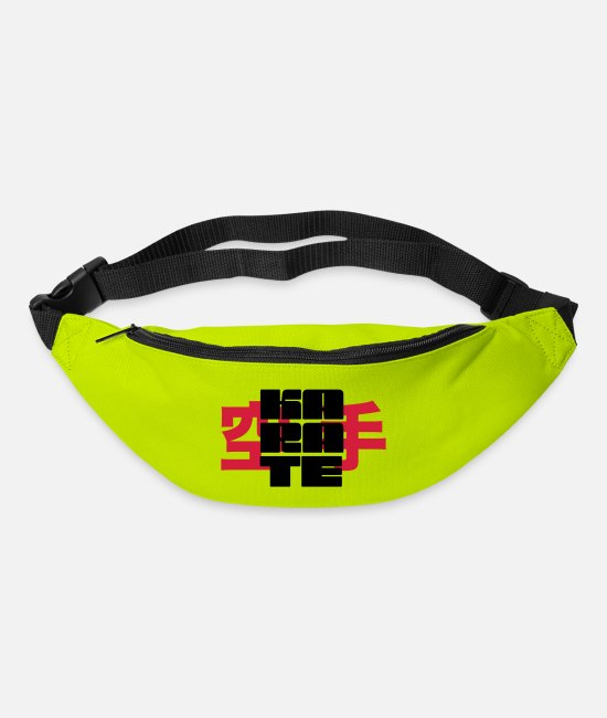 Martial Arts Bags & Backpacks - karate - Bum Bag lime green